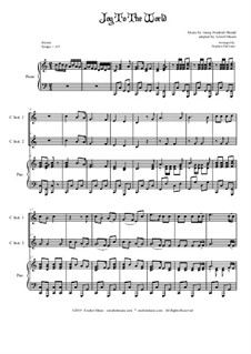 Joy to the World: Duet for C-Instruments and piano by Georg Friedrich Händel