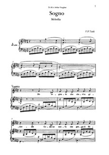 Sogno: For voice and piano by Francesco Paolo Tosti
