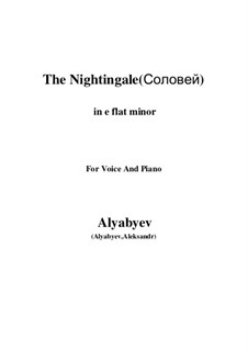 The Nightingale: For voice and piano (e flat minor) by Alexander Alyabyev