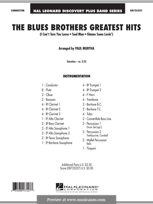 The Blues Brothers Greatest Hits: Full score by David Porter, Isaac Hayes, Muff Winwood, Otis Redding, Spencer Davis, Steve Winwood