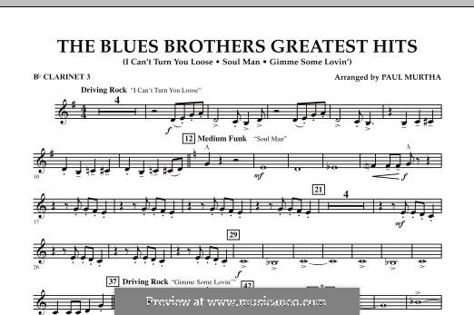 The Blues Brothers Greatest Hits: Bb Clarinet 3 part by David Porter, Isaac Hayes, Muff Winwood, Otis Redding, Spencer Davis, Steve Winwood