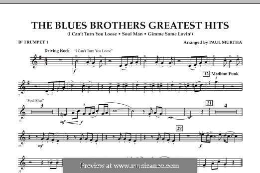 The Blues Brothers Greatest Hits: Bb Trumpet 1 part by David Porter, Isaac Hayes, Muff Winwood, Otis Redding, Spencer Davis, Steve Winwood
