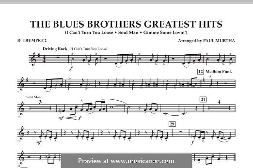 The Blues Brothers Greatest Hits: Bb Trumpet 2 part by David Porter, Isaac Hayes, Muff Winwood, Otis Redding, Spencer Davis, Steve Winwood