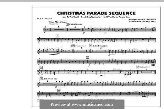 Christmas Parade Sequence: Bb Clarinet 1 part by folklore