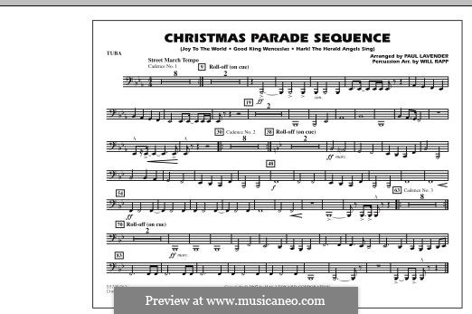 Christmas Parade Sequence: Tuba part by folklore