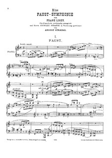 Faust Symphony, S.108: For piano by Franz Liszt
