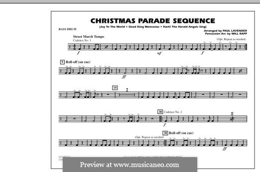 Christmas Parade Sequence: Bass Drum part by folklore