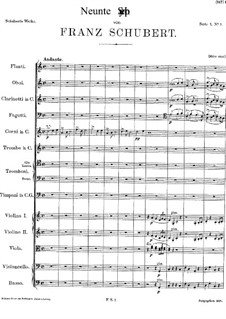 Symphony No.9 in C Major 'The Great', D.944: Full score by Franz Schubert
