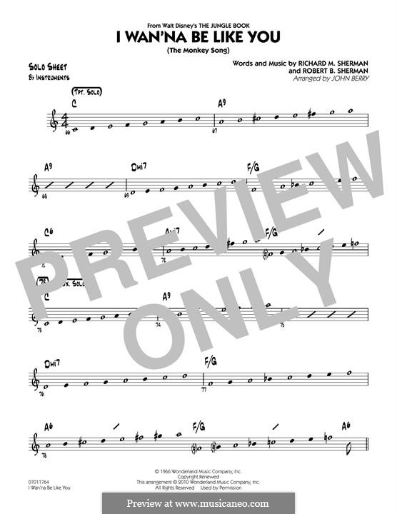 I Wanna Be Like You (The Monkey Song): Bb Solo Sheet part (arr. John Berry) by Richard M. Sherman, Robert B. Sherman