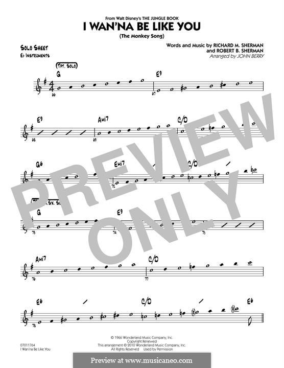 I Wanna Be Like You (The Monkey Song): Eb Solo Sheet part (arr. John Berry) by Richard M. Sherman, Robert B. Sherman