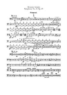 Symphony No.2 in C Minor, Op.29: Timpani and tam-tam parts by Alexander Scriabin