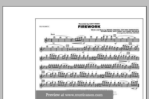 Firework (arr. Michael Brown): Flute/Piccolo part by Esther Dean, Katy Perry, Mikkel Storleer Eriksen, Sandy Wilhelm, Tor Erik Hermansen
