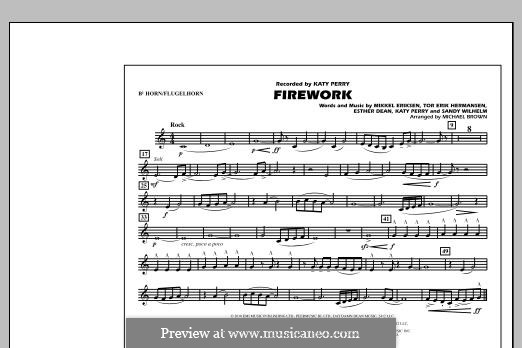 Firework (arr. Michael Brown): Bb Horn/Flugelhorn part by Esther Dean, Katy Perry, Mikkel Storleer Eriksen, Sandy Wilhelm, Tor Erik Hermansen