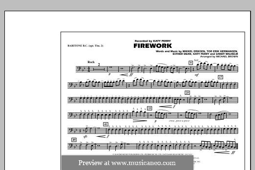 Firework (arr. Michael Brown): Baritone B.C. (Opt. Tbn. 2) part by Esther Dean, Katy Perry, Mikkel Storleer Eriksen, Sandy Wilhelm, Tor Erik Hermansen