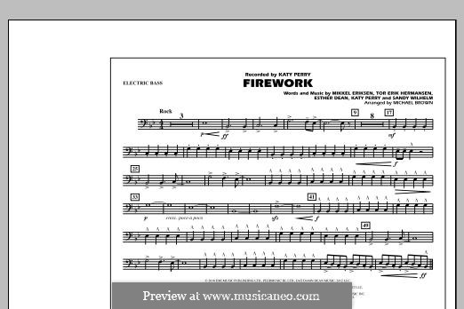 Firework (arr. Michael Brown): Electric Bass part by Esther Dean, Katy Perry, Mikkel Storleer Eriksen, Sandy Wilhelm, Tor Erik Hermansen