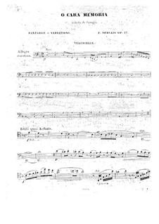 O cara memoria for Cello and Piano, Op.17: Solo part by Adrien-François Servais