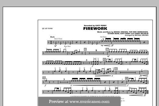 Firework (arr. Michael Brown): Quad Toms part by Esther Dean, Katy Perry, Mikkel Storleer Eriksen, Sandy Wilhelm, Tor Erik Hermansen