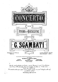 Piano Concerto in G Minor, Op.15: Movements I-II – for two pianos four hands by Giovanni Sgambati