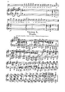 Three Dances: Polka, for voices and piano by Bedřich Smetana