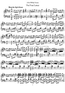 The Free Lance: For piano by John Philip Sousa