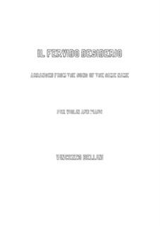 Il fervido desiderio: For violin and piano by Vincenzo Bellini