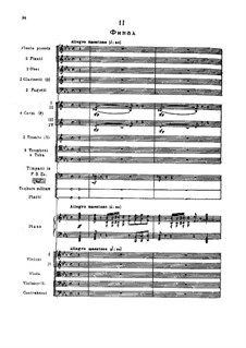 Andante and Finale for Piano and Orchestra, TH 241 Op.79: No.2 Finale by Pyotr Tchaikovsky