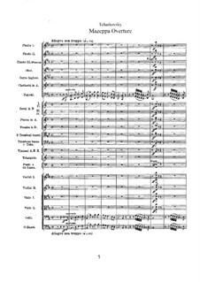 Mazepa, TH 7: Overture by Pyotr Tchaikovsky