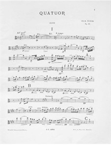 Piano Quartet in A Minor, Op.66: Viola part by Charles-Marie Widor
