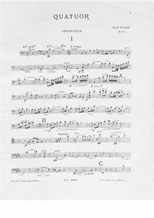 Piano Quartet in A Minor, Op.66: Cello part by Charles-Marie Widor