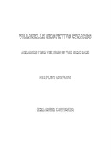Villanelle des petits canards: For flute and piano by Emmanuel Chabrier