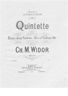 Piano Quintet No.2, Op.68: Cello part by Charles-Marie Widor