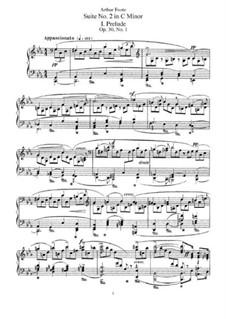 Suite No.2 in C Minor, Op.30: For piano by Arthur Foote