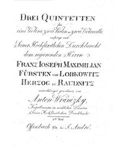 Three String Quintets, Op.8: Violas parts by Anton Wranitzky