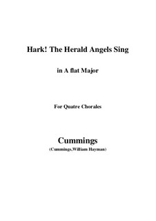 Hark! The Herald Angels Sing: For quatre chorales (A flat Major) by Felix Mendelssohn-Bartholdy
