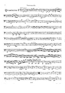 Six String Quartets, Op.2: Quartets No.4-6 – cello part by Rodolphe Kreutzer