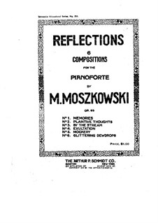 Six Pieces for Piano, Op.93: Complete set by Moritz Moszkowski