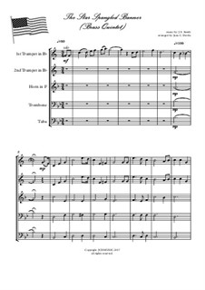 The Star Spangled Banner (National Anthem of The United States): For brass quintet by John Stafford Smith