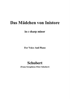 Das Mädchen von Inistore (The Maid of Inistore), D.281: C sharp minor by Franz Schubert