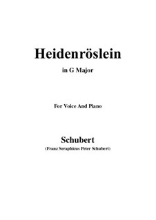 Heidenröslein (Little Hedge Rose), D.257 Op.3 No.3: For voice and piano (G Major) by Franz Schubert