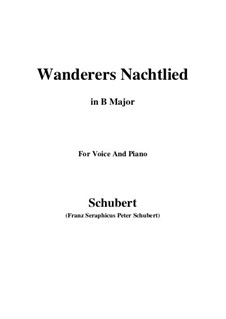 Wanderer's Night Song II, D.768 Op.96 No.3: For voice and piano (B Major) by Franz Schubert