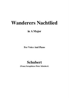 Wanderer's Night Song II, D.768 Op.96 No.3: For voice and piano (A Major) by Franz Schubert