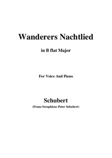Wanderer's Night Song II, D.768 Op.96 No.3: For voice and piano (B flat Major) by Franz Schubert
