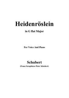 Heidenröslein (Little Hedge Rose), D.257 Op.3 No.3: For voice and piano (G flat Major) by Franz Schubert