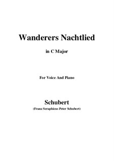 Wanderer's Night Song II, D.768 Op.96 No.3: For voice and piano (C Major) by Franz Schubert