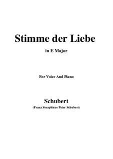 Stimme der Liebe (Voice of Love), D.418: E Major by Franz Schubert