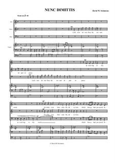 Nunc Dimittis for men's voices (ATB) and organ: Nunc Dimittis for men's voices (ATB) and organ by David W Solomons