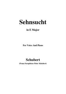 Sehnsucht (Longing), D.52: E Major by Franz Schubert
