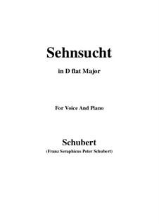 Sehnsucht (Longing), D.52: D flat Major by Franz Schubert