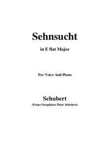 Sehnsucht (Longing), D.52: E flat Major by Franz Schubert