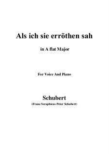 Als ich sie erröten sah (When I Saw Her Blush), D.153: A flat Major by Franz Schubert